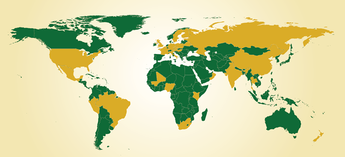 World Map - Fulbright Scholars